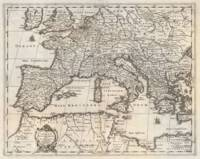 Vintage Map of Europe and Northern Africa (1852)