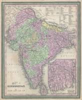 Vintage Map of India (1853)