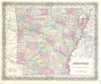 Vintage Map of Arkansas (1855)