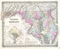 Vintage Map of Maryland (1855)