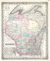 Vintage Map of Wisconsin (1855)