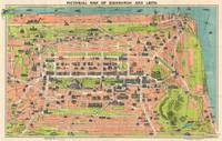 Vintage Pictorial Map of Edinburgh Scotland (1935)
