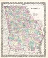 Vintage Map of Georgia (1855)