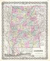 Vintage Map of Alabama (1855)