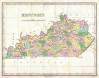 Vintage Map of Kentucky (1827)