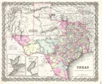 Vintage Map of Texas (1855)