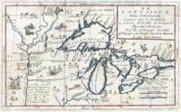 Vintage Map of The Great Lakes (1696)