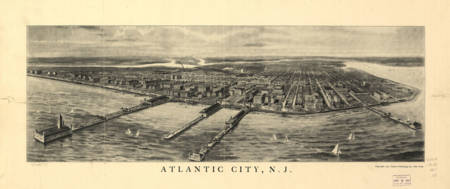 Vintage Map of Atlantic City NJ (1905)