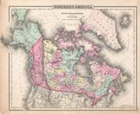 Vintage Map of Canada (1857)