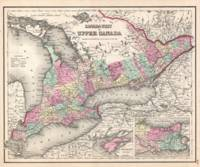 Vintage Map of Ontario Canada (1857)