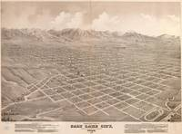 Vintage Map of Salt Lake City Utah (1875)
