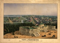 Vintage Pictorial Map of Washington D.C. (1852)