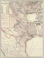 Vintage Map of The Texas Railroad System (1885)