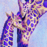 """Two purple giraffes"" by pietrastone"