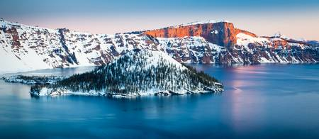 Winter Morning at Crater Lake
