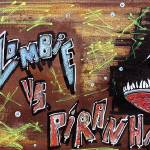 """Zombie Vs. Piranha"" by ArtPrints"
