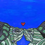 """Sea Turtle Love"" by GroffArt"
