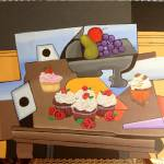 """FRUIT BOWL AND YUMMY CUP CAKES"" by ROFFEART"