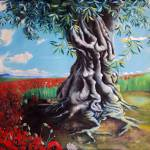 """Olive Tree in a Sea of Poppies"" by unlimiteditalian"