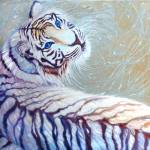 """white tiger with blue eyes"" by gillymissile"
