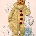 """Vintage Clown Postcard Collage"" by angelandspot"