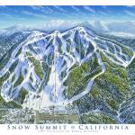 """Snow Summit Resort, California"" by jamesniehuesmaps"