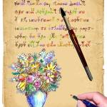 """Floral Manuscript"" by Bennecelli"