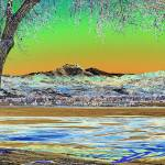 """Longs Peak Winter Landscape Solarized"" by lightningman"