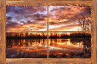 Crane Hollow Sunrise Barn Wood Picture Window