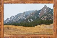 Flatiron Barn Wood Picture Window Frame View