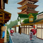 """A Stroll in Old Kyoto Japan"" by anthonydunphy"