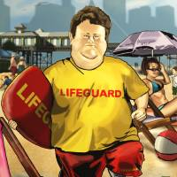 The Lifeguard. Art Prints & Posters by Jamie Briggs
