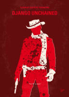 No184 My Django Unchained minimal movie poster