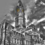 """Philadelphia City Hall - HDR/BW"" by FordLou"