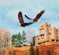 Eagles over Gillette Castle