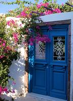 Greek Santorini Doors