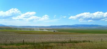 farmer in field near Three Forks Montana
