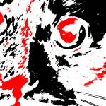 """Pretty Kitty - Black White And Red Series"" by bettynorthcutt"