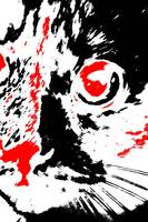 Pretty Kitty - Black White And Red Series