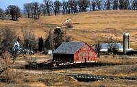 Red Barn in Valley
