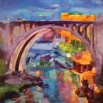 """Monroe Street Bridge"" by jacquelinebrewerart"
