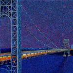 """George Washington Bridge New York"" by 1004art"