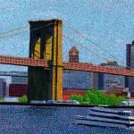 """Brooklyn Bridge New York"" by 1004art"