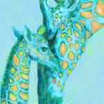 """""""aqua giraffes"""" by pietrastone"""