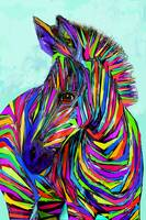 pop art baby zebra