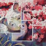 """Pig in the Garden"" by KimStenbergFineArt"