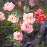 """""""Peony Garden"""" by KimStenbergFineArt"""