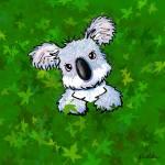 """""""Koala In Green"""" by KiniArt"""