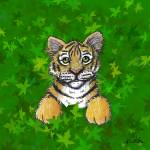 """Tiger In Green"" by KiniArt"