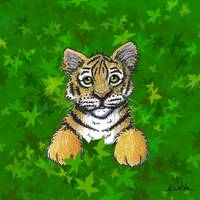Tiger In Green
